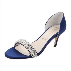 Something Bleu NWOT Cappy d'orsday blue satin heel